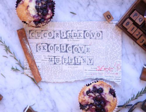 Čučoriedkovo-škoricové muffiny