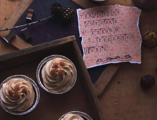 Tekvicové cupcakes s krémom z pečených jabĺk