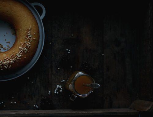 Savarin s pomarančovo- kamilkovým sirupom