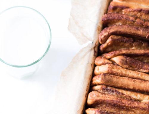 Škoricovo-kardamonová harmonika s hnedým maslom